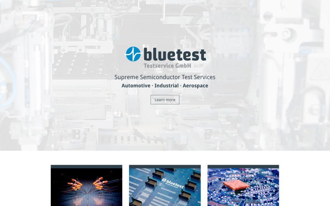 Website Bluetest (mehrsprachig)