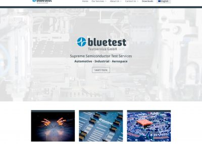 Website Bluetest (mehrsprachig)