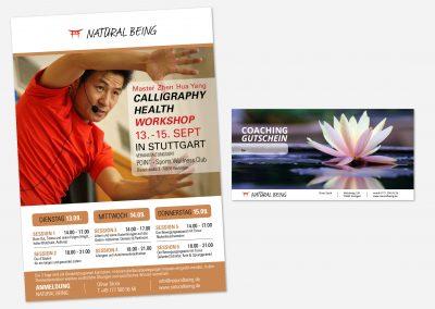 Event-Plakat und Gutschein