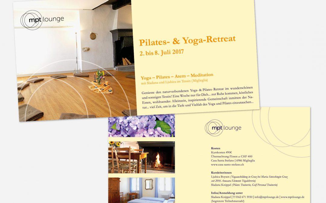 Informationsflyer Yoga-Event