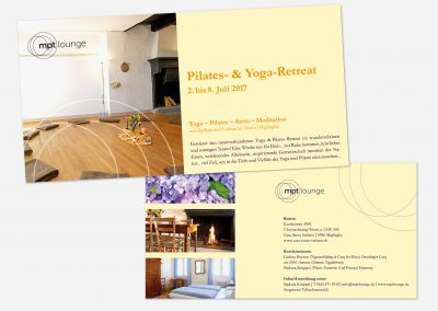 Informationsflyer Yoga-Event