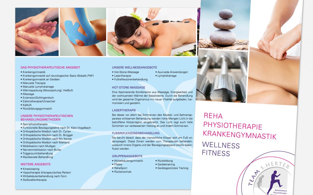 Informationsflyer Physiotherapie