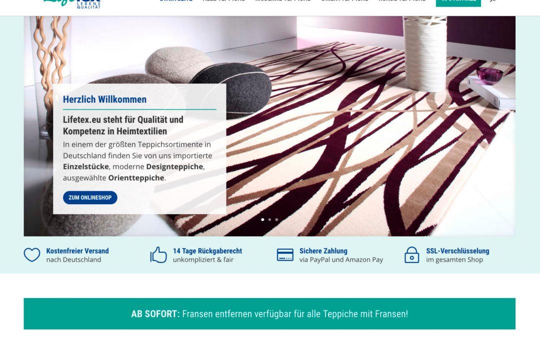 Webshop Lifetex.eu Heimtextilien