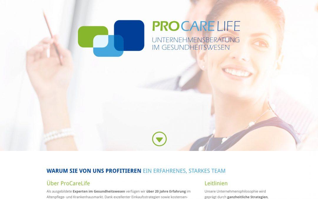 Website ProCareLife Unternehmensberatung