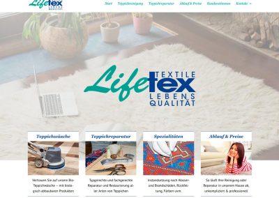 Website Lifetex Wohnteppichservice