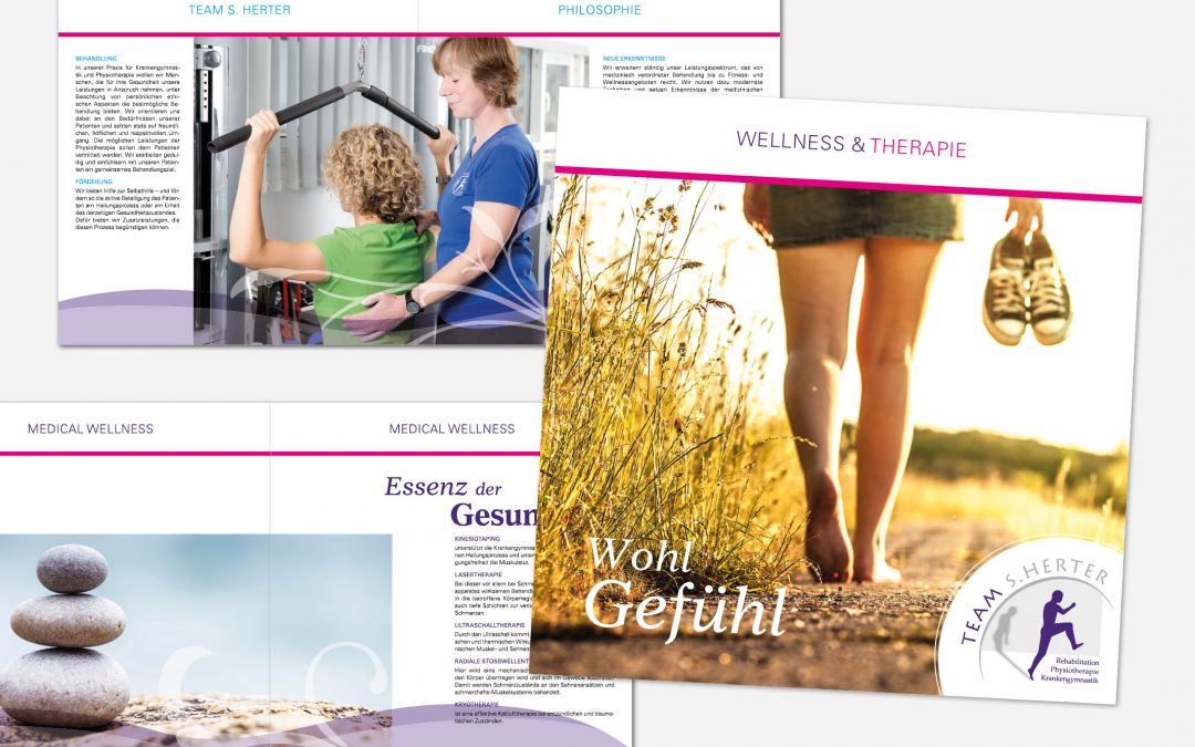 Wellnessbroschüre Physiotherapie S. Herter